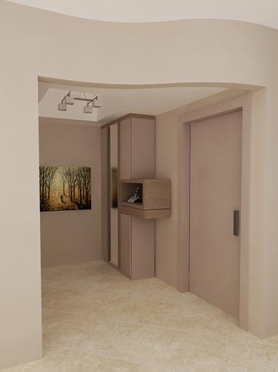Άποψη Α της εισόδου από το διαμέρισμα στην Καλαμαριά